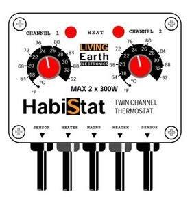 Habistat Twin-channel Reptile Vivarium Thermostat from Habistat