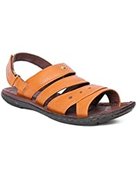 Red Chief Tan Men's Casual Leather Sandals (RC685 107)