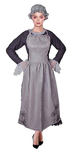 Freaky Maid, Ghost/Zombie Womens Halloween Fancy Dress Costume by Bristol (Zombie Freaky Kostüm)