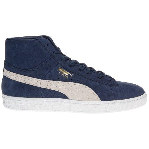 Puma Suede Mid Classic Herren Sneaker Blau dark denim-white