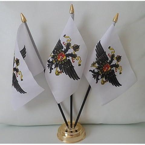 1st las reinas de la bandera de 3 protectores de piscina calefaccionada pantalla de sobremesa mesa centro de mesa en oro