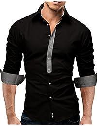 MERISH Hommes Chemise d'Affaires Classique Manches Longues SlimFit adapté Contrastes plaid pour toutes les occasions Modell 11