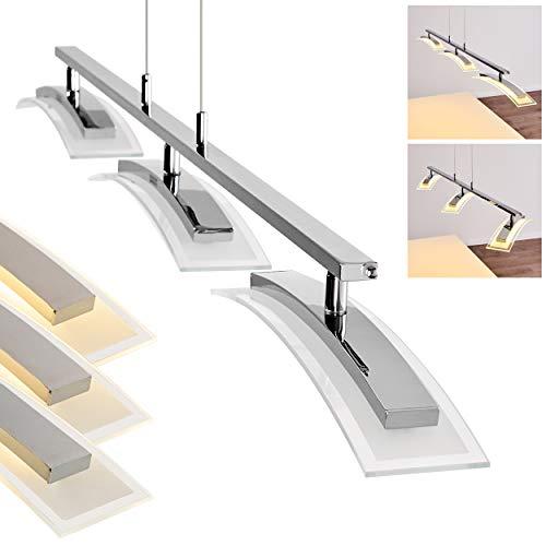 LED-Hängeleuchte Tarumo - Längliche Hängelampe 3-flammig für Esszimmer, Wohnzimmer – 3000 Kelvin – 2100 Lumen – Pendellampe – LED Pendelleuchte Esstisch – Hängelampe LED mit Dimmer – höhenverstellbar