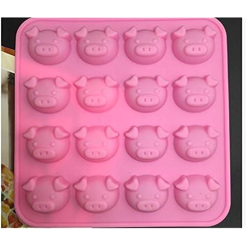 XYXY Cerdo de silicona del molde del chocolate tarjeta de DIY dulces herramientas