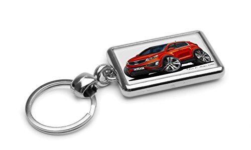 wickedartz-cartoon-car-kia-sportage-mk3-techno-orange-premium-metal-key-ring