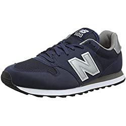 New Balance 500 Core, Baskets Homme, Bleu (Navy/Grey Navy), 43 EU