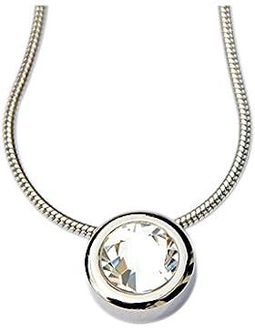 Dragon Eye Miore White Diamond Schmuck Set Energetix 4you 459 Swarovski® Solitaire Magnet Kettenanhänger plus...