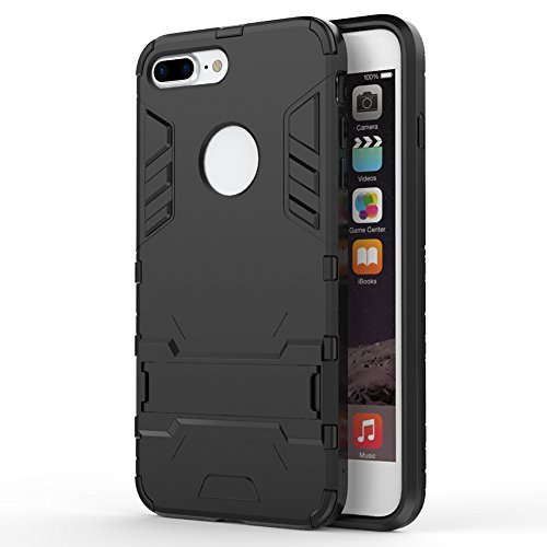 iphone 7 plus case , AEDILYS [Soft TPU & Hard PC Rugged] Shockproof Protective Cover Heavy Duty Hybrid Rugged Case Non-slip Grip Ultra Hard Cover Shell with Kickstand for Apple iphone 7 plus