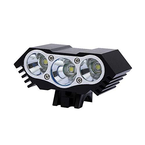 HENGTA Fahrradlicht LED DREI Dochte T6 / L2, USB Wiederaufladbare Fahrrad Licht, IP65 wasserdichte Fahrradlampe, Fahrradlicht Superhelle, Fahrradbeleuchtung für Nachtfahrer,Radfahren und Campin