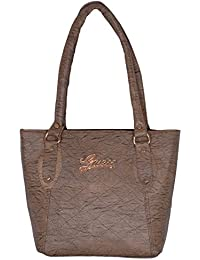 Suman International Leather Dark Brown Sling Ladies Bag