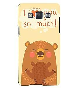 Citydreamz I Love You\Cute Love Hard Polycarbonate Designer Back Case Cover For Samsung Galaxy J5