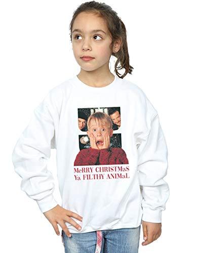 Home Alone Mädchen Merry Christmas Ya Filthy Animal Sweatshirt Weiß 12-13 Years (Animal Filthy Merry Ya Christmas Pullover)