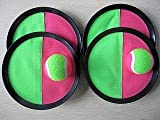 Velcro palla (cattura gioco di palla) con 4 rondelle e 2 velcro cattura palla