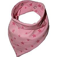 Zahntuch Sterne rosa, wasserdichtes Halstuch