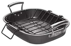 Circulon Steel 40 x 30 cm Oven Roaster with Rack - Black