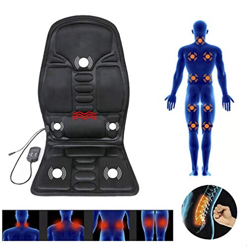 DZXYQ Haushalt Elektrisches Massagegerät Hals Zurück Taille Gesäßheizung Multifunktional Büro Massagekissen Fahrzeugspezifisch Massagekissen (19-zoll-hals)