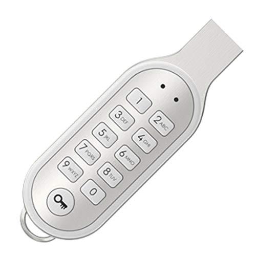 Sicherer USB 2.0 Stick 16 GB mit PIN Code Eingabe 100% Hardwareverschlüsselung (Alu/Weiß)