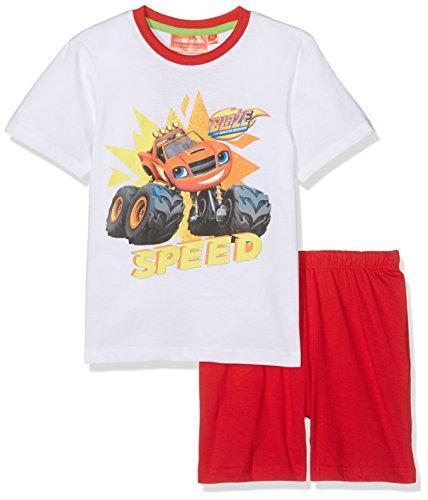 Disney blaze, pigiama bambino, bianco white, 5-6 anni