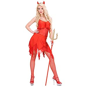 WIDMANN Générique Diablo Medio de vestuario para Halloween Lucifer Satanás vestido de lujo