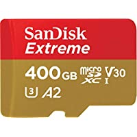 SanDisk Extreme microSD UHS-I 160MB/s Card with Adapter U3,A2 400GB - SDSQXA1-400G-GN6MA