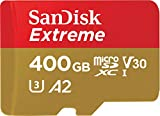 SanDisk Extreme 400GB microSDXC Class 10 Speicherkarte mit SD-Adapter, Gold/Rot