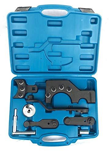 OUBAYLEW Zahnriemen Motor Einstellwerkzeug Nockenwellen Set Zahnriemen Werkzeug Satz für VW T5 Touareg TDI -DEU aus robustem Carbonstahl im Werkzeugkoffer