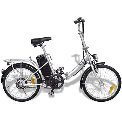 vidaXL Klappbares Elektro-Fahrrad + Lithium-Ionen-Battery Aluminiumlegierung