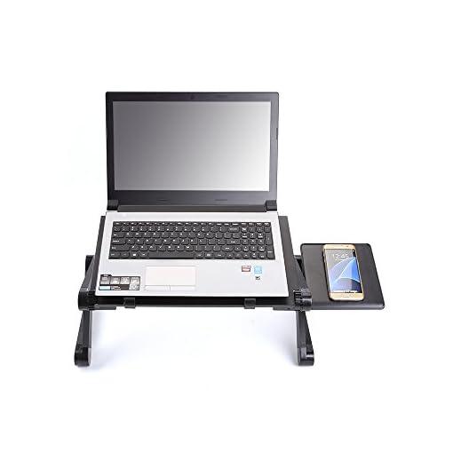 Tavolino Notebook Divano.Mbuynow Supporto Alluminio Notebook Tavolino Pc Pieghevole
