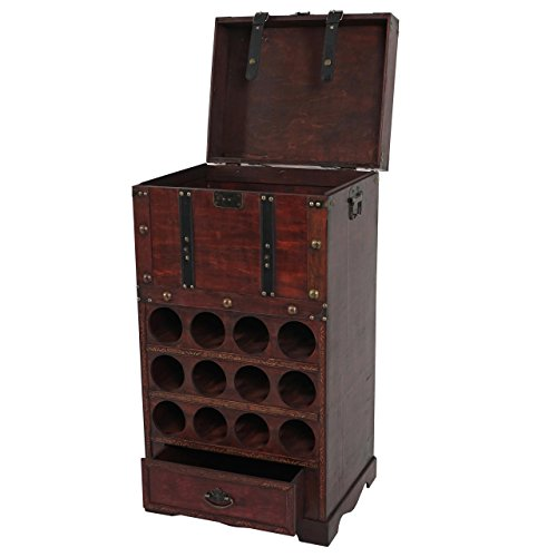 Mendler Weinregal Calvados T251, Flaschenregal Regal Holzregal für 12 Flaschen, Kolonialstil 85,5x46x37cm