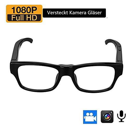 Versteckte Spion Kamera Mini (OMOUP 16GB 1920x1080P Digital Glasart Sonnenbrille Kamerarecorder Eyewear Spion Versteckte Gläser Kamera Mini DVR DV Videoaufnahme)