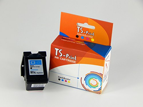 TS-Print® Tintenpatrone kompatibel zu HP 901XL bk / 1x ~600 Seiten schwarz...