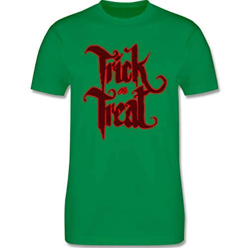 Halloween - Trick or Treat Halloween Typo - Herren Premium T-Shirt Grün