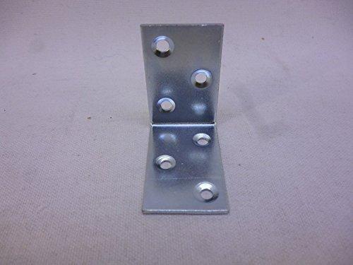 10 Winkelverbinder, Bauwinkel, 40 mm x 40 mm x 25 mm x 1,5 mm, W, verzinkt