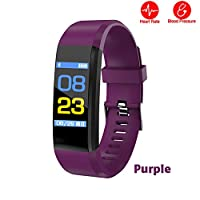 ANYIKE Fitness Tracker with Heart Rate Monitor, Sports Activity Tracker, Waterproof Pedometer Watch with Sleep Monitor for Men Women Kids (purple)