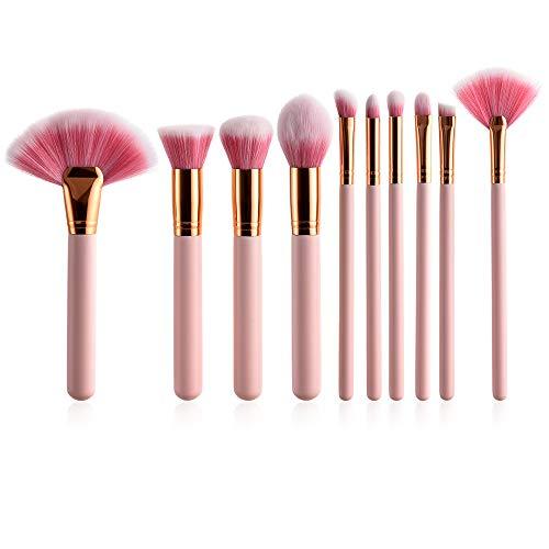 10pcs Makeup Brushes Set Foundation Brushes Portable Makeup Brush Cosmetic Tools Base Foundation Powder Blush