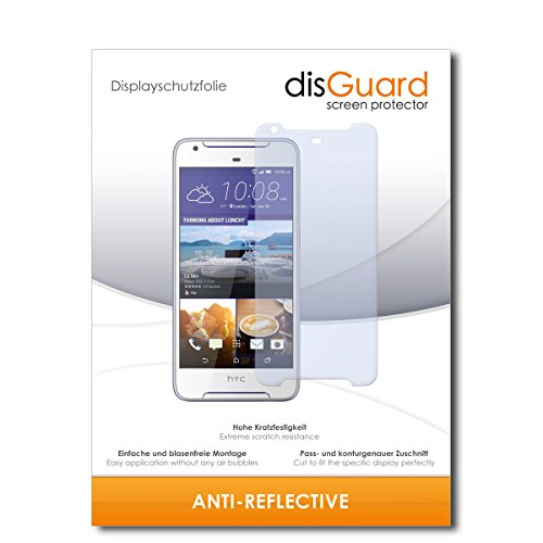 disGuard® Displayschutzfolie [Anti-Reflex] kompatibel mit HTC Desire 628 Dual SIM [3 Stück] Entspiegelnd, Matt, Antireflektierend, Extrem Kratzfest, Anti-Fingerabdruck - Panzerglas Folie, Schutzfolie