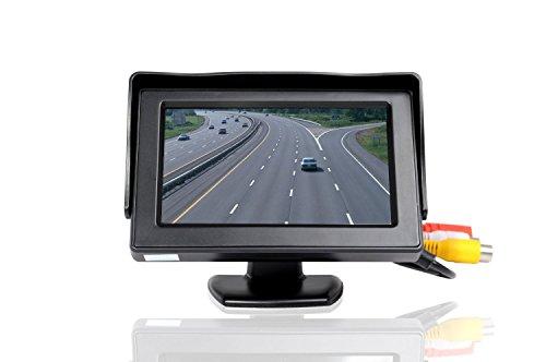 Bosszi 10,9cm (4,3 Zoll) hochauflösender Farb-TFT/LCD-Kamera-Monitor für das Auto, 2x Videoeingang, neuer Bildschirm