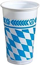 Susy Card 11095601 Bayernraute - Vaso (0,2 l, 12 unidades, diseño de rombos del escudo de Baviera)