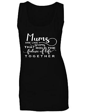 Las Madres Son Como Las Costuras Que Mantienen El Tejido De La Vida Juntos camiseta sin mangas mujer n406ft