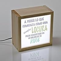 Caja de luz con mensaje - lightbox led- palabras iluminadas - regalo ideal para un amigo/a