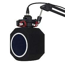 Nobsound Micro Professional Studio Mic Microphone ScreenAcoustic FilterDesktop Recording Simple Wind Screen; Vocal Studio Sound Recording Booth Reflection Filter Foam PF8