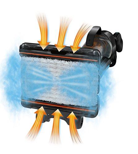 Rowenta RY7557WH Aspirateur Balai Nettoyeur Vapeur Clean & Steam Sans Détergent Autonomie jusqu'à 40 min 1700W Blanc et Argenté