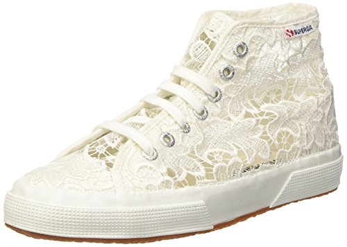 Superga 2795-MACRAMEW, Sneaker a Collo Alto Donna, Bianco (White 901), 37 EU