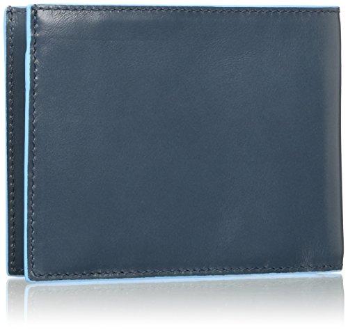 Piquadro Münzbörse, Nero (schwarz) - PU1239B2/N Blu (R.A.F Blue)