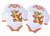 Winnie the Pooh 2er Pack Tiger Langarm Baby Body Gr. 74/80 Baby Strampler Baby Bodys mädchen Baby Bodies Baby Geschenke Baby Body Jungen taufgeschenke Jungen babysachen Junge