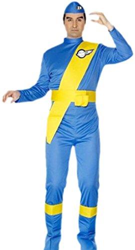 Virgil Costume Thunderbirds (Confettery - Erwachsene Thunderbirds Virgil Kostüm, M,)