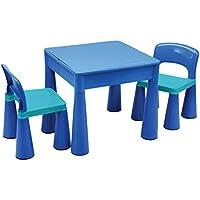 LibertyHouseToys LH899B 5 in 1 Multifunktionstisch und 2 Stühle, Plastik, blau, 51 x 51 x 46.5 cm preisvergleich bei kinderzimmerdekopreise.eu