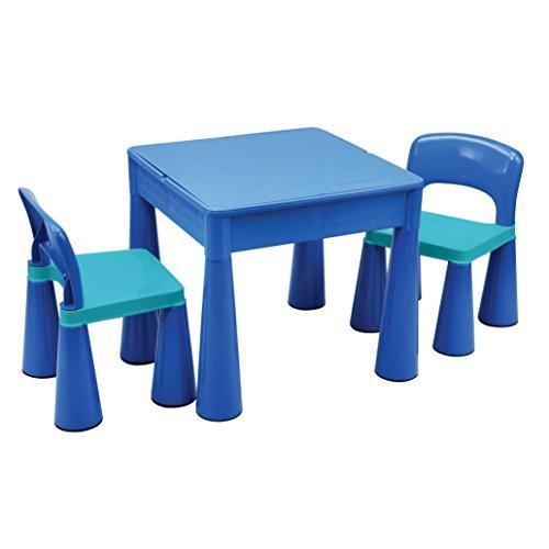 Liberty House LH899B Juego de mesa y 2 sillas infantiles, color Azul