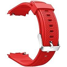 Magiyard Correa de reloj, Correa de muñeca de repuesto Silicagel Soft Band Strap Para Huawei Watch 2 (rojo)