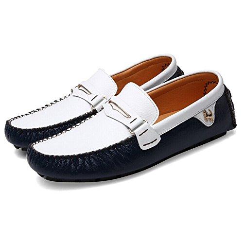 Zicac Herren Bootsschuhe Britischer Stil Herren Halbschuhe Blau